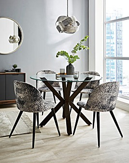Bodie Dining Table with 4 Savannah Chairs
