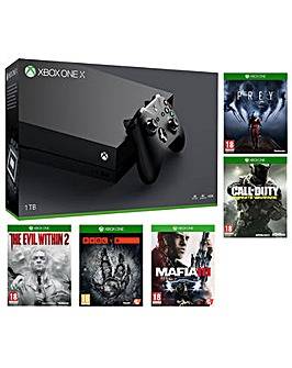 Xbox One X 1TB Console  5 Games