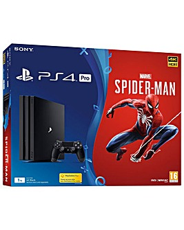 PS4 Pro 1TB Console Inc Spider-Man Game