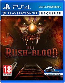 Until Dawn Rush of Blood PS VR