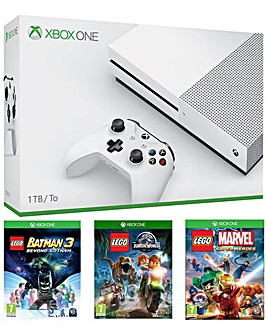 Xbox One S 1TB Console and 3 Lego Games