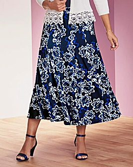 Jersey Panelled Skirt 32in