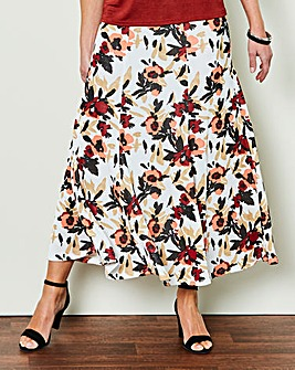 Printed Slinky Skirt 32in