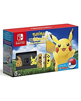 Nintendo Switch Lets Go Pikachu Console