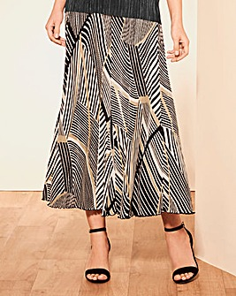 Print Plisse Skirt