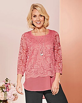 Lace and Georgette Top