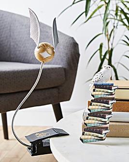 Harry Potter Golden Snitch Light Clip & Hegwig Bookmark Bundle