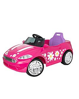 EVO 6 Volt Pink Floral Sports Car
