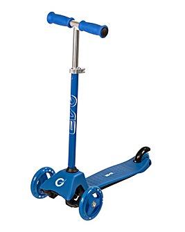 EVO Blue Mini Cruiser Tri-Scooter