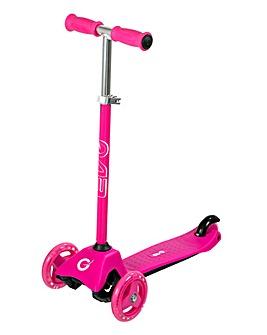 EVO Pink Mini Cruiser Tri-Scooter