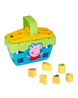 Peppa Pig Shape Sorter Pinic Basket