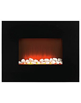 Beldray Pollensa 2kW Electric Wall Hung Fire - Black