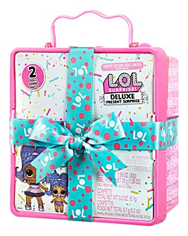 LOL Surprise Deluxe Present Surprise Series 2 with Exclusive Doll & Lil Sister