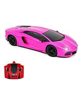 1:24 Lamborghini Aventador LP Pink Remote Control Car