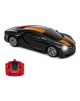 1:24 RC Bugatti Chiron Supersport Black Remote Control Car