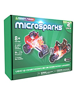 Laser Pegs Microsparks: Vehicles 2 pack - Mini Rod/Red Motorcycle