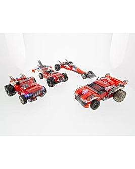 Laser Pegs Multi Models: 4-in-1 Red Racer