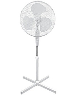 White Oscillating Pedestal Fan - 16 Inch