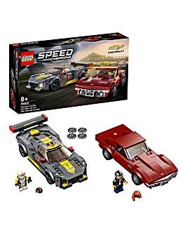 LEGO Speed Champions Chevrolet Corvette C8.R Race Car and 1968 Chevrolet - 76903