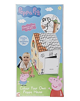 Peppa Pig Colour Your Own Cardboard House
