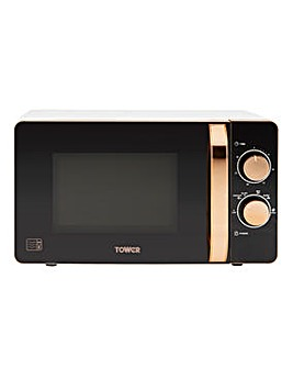 Tower T24020W 20L Manual Microwave - White/Rose Gold