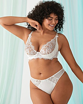 Pulse Lace Underwired Plunge Bra B-G