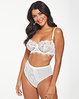 Figleaves Pulse Lace Underwired Plunge Bra B-G