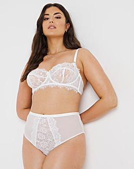 Figleaves Pulse Lace Underwired Balcony Bra B-G