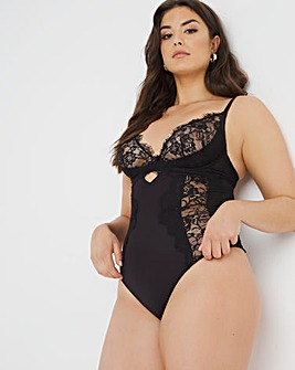 Figleaves Pulse Lace Underwired Body Longer Length B-DD