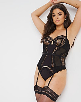 Pulse Lace Underwired Basque B-GG