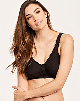 Pocketed Comfi Front Fastening Cotton Bra