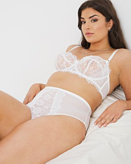 Figleaves Pulse Lace High Waist Brief