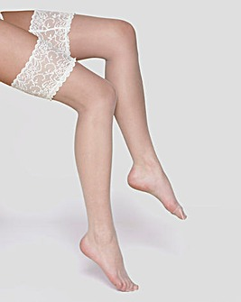 Charnos 10 denier Bridal Lace Hold Ups