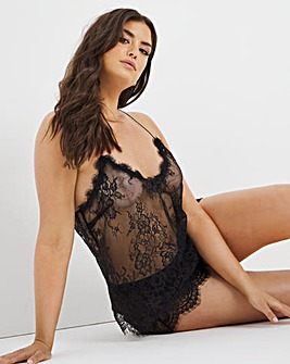 Figleaves Gigi Galloon Lace Cami and Short Set
