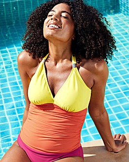 Colourblock Underwired Shaping Swimsuit