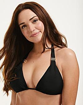 Figleaves Rene Black Soft Triangle Bikini Top