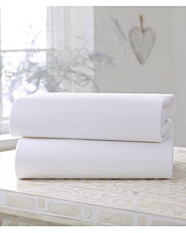 Clair De Lune Pack of 2 Fitted Cot Bed Sheets