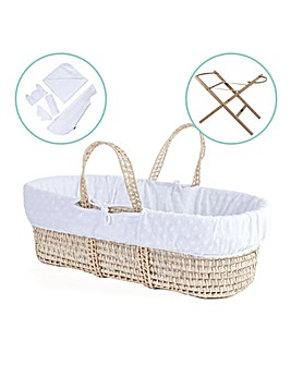 Palm Moses Basket with Stand & Gift Set