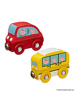 Peppa Pig Wooden 2 Pack of Vehicles