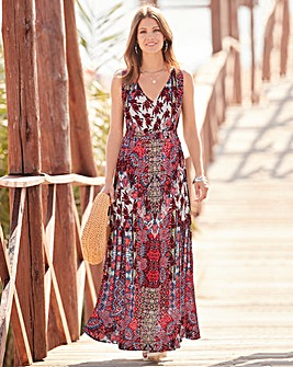 Together Patchwork Print Maxi Dress