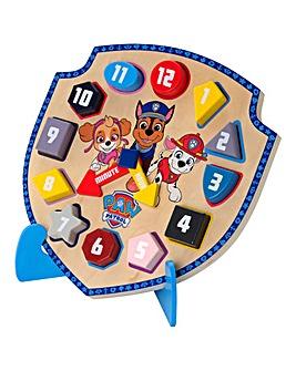 Paw Patrol Wooden Clock