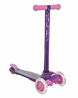 uMoVe Sequin Fixed Tilt Scooter with LEDS - Purple