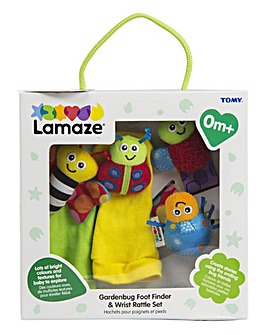 Lamaze Gardenbug Wrist Rattle Footfinder Set