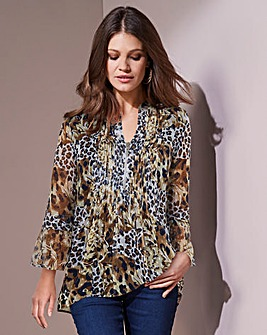 Together Animal Floral Print Blouse