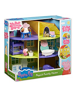 Peppa Pig Deluxe Lights & Sounds Wooden Family Home