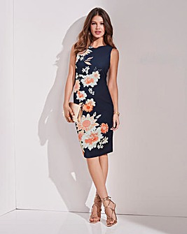 Together Placement Print Dress