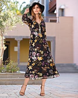 Together Placket Boho Dress