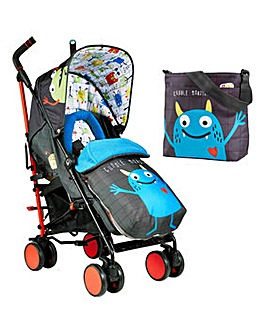 Cosatto Supa 2 Stroller with Change Bag - Monster Mob 2