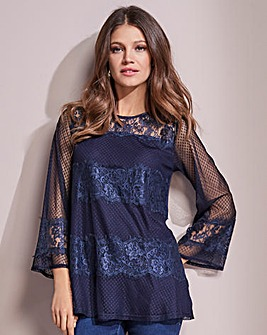 Together Lace Panel Top