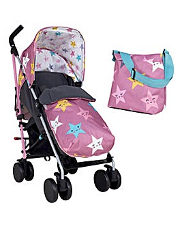 Cosatto Supa 2 Stroller with Change Bag - Happy Hush Stars